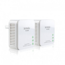 PLC/POWERLINE TENDA P200 - PACK 2 UDS - 200MBPS - 300M - BOTÓN DE SEGURIDAD- PLUG AND PLAY