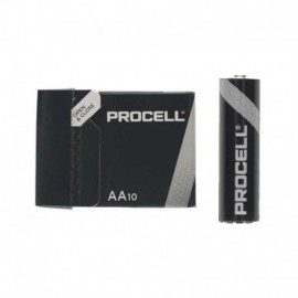 PACK 10 PILAS AA (LR6) DURACELL PROCELL ID1500IPX10 - ALCALINA (Zn/MnO2) - 1.5V - 3,016MAH