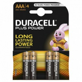 PACK DE 4 PILAS AAA DURACELL PLUS POWER - LR03 - 1.5V - ALCALINA