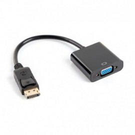 ADAPTADOR DISPLAYPORT A VGA LANBERG AD-0002-BK - RESOLUCIÓN HASTA 1080P 60HZ - CABLE 20 CM - NEGRO