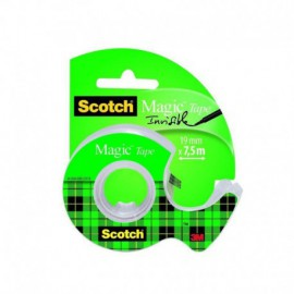 CINTA ADHESIVA INVISIBLE 3M EN PORTARROLLOS RECARGABLE - 75M X 19MM - SCOTCH