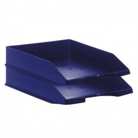 PACK 2 BANDEJAS APILABLES - FONDO LISO - AZUL - 350X258X65 MM - ARCHIVO 2000