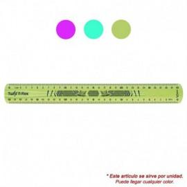 REGLA FLEXIBLE MAPED 027900 - DOBLE GRADUACIÓN - 30CM - COLORES SURTIDOS ALEATORIOS
