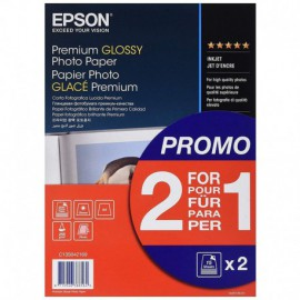 PAPEL FOTOGRÁFICO EPSON C13S042169 - A4 - PREMIUM GLOSSY - 255G/M2 - 30 HOJAS
