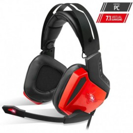 AURICULARES CON MICRÓFONO SPIRIT OF GAMER XPERT-H100 RED - DRIVERS 50MM - RETROILUMINACION LED ROJA - CONECTOR USB - CABLE 240CM