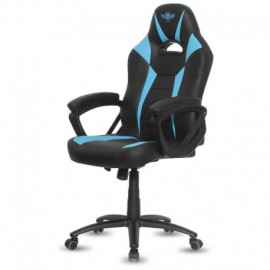 SILLA SPIRIT OF GAMER FIGHTER BLUE - INCLINACIÓN / ALTURA REGULABLES - BRAZOS XL FIJOS - 5 RUEDAS 360º - HASTA 120KG