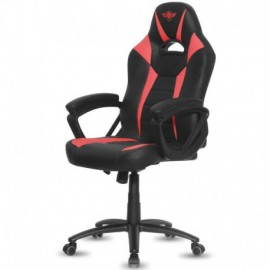 SILLA SPIRIT OF GAMER FIGHTER RED - INCLINACIÓN / ALTURA REGULABLES - BRAZOS XL FIJOS - 5 RUEDAS 360º - HASTA 120KG