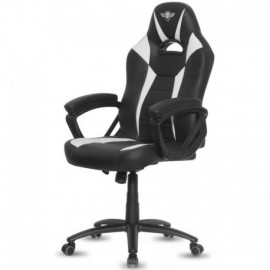 SILLA SPIRIT OF GAMER FIGHTER WHITE - INCLINACIÓN / ALTURA REGULABLES - BRAZOS XL FIJOS - 5 RUEDAS 360º - HASTA 120KG