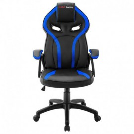SILLA GAMER MARS GAMING MGC118BBL AZUL - REPOSACABEZAS ACOLCHADO - ALTURA REGULABLE - PISTON CLASE 4 - HASTA 130 KG