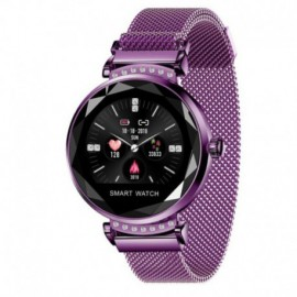 RELOJ INTELIGENTE INNJOO LADY CRYSTAL PURPLE - REGISTRO DISTANCIA - RITMO CARDIACO - MONITORIZACIÓN SUEÑO - WATERPROOF
