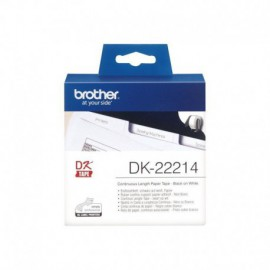 CINTA CONTINUA DE PAPEL TÉRMICO BROTHER DK22214 - ANCHURA 12MM - BOBINA 30.48M