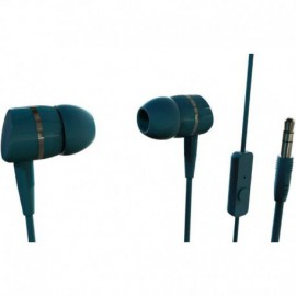 AURICULARES INTRAUDITIVOS VIVANCO 38011 VERDE - 20-20HZ - 105DB - 32OHM - CONTROL VOLUMEN - CABLE 1.2M - JACK 3.5