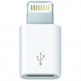 ADAPTADOR MICRO USB A LIGHTNING 3GO A200 - DE MICRO USB HEMBRA A LIGHTNING MACHO - 8 PIN - COLOR BLANCO
