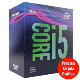 PROCESADOR INTEL CORE I5-9400F - 2.90GHZ - 6 NÚCLEOS - SOCKET LGA1151 9TH GEN - 9MB CACHE * SIN GRAFICA INTEGRADA *