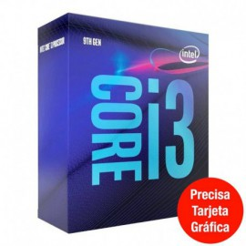 PROCESADOR INTEL CORE I3-9100F - 3.60GHZ - 4 NÚCLEOS - SOCKET LGA1151 9TH GEN - 6MB CACHE * SIN GRÁFICA INTEGRADA *
