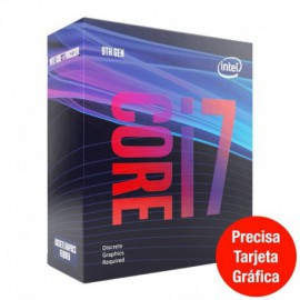 PROCESADOR INTEL CORE I7-9700F - 3GHZ - 8 NÚCLEOS - SOCKET LGA1151 9TH GEN - 12MB CACHE * SIN GRÁFICA INTEGRADA *