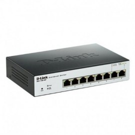SWITCH DLINK DGS-1100-08 - 8 PUERTOS RJ45 10/100/1000 BASE-TX - PACKET BUFFER 2MBITS - MEMORIA 2MB